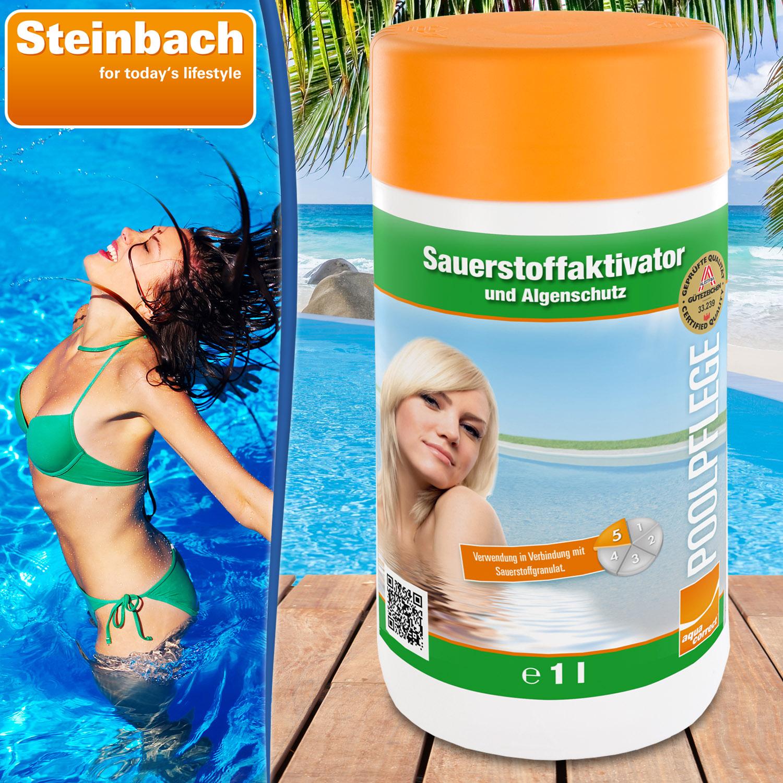 1l Steinbach Sauerstoffaktivator flüssig  07535S01TD00 Algenverhütung Aktivator