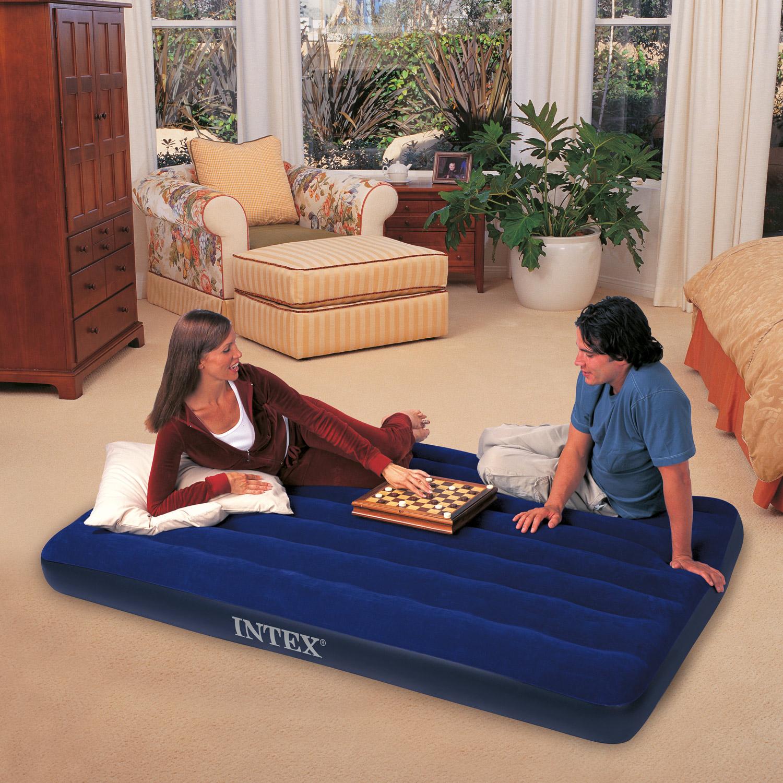 Intex Luftbett 191x99x22 cm blau Gästebett Luftmatratze