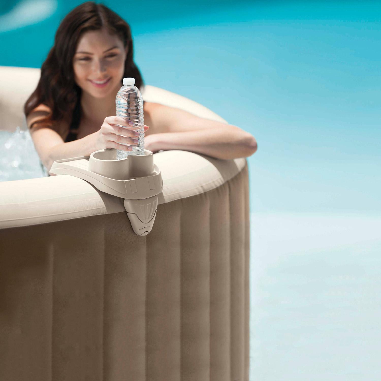 Intex Ablagetablett mit integriertem Getränkehalter für Whirlpool
