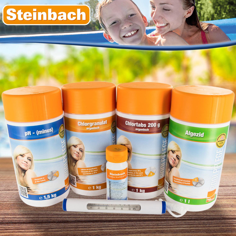 Steinbach Starterset mit Chlor, Alegzid, Ph Minus, etc.
