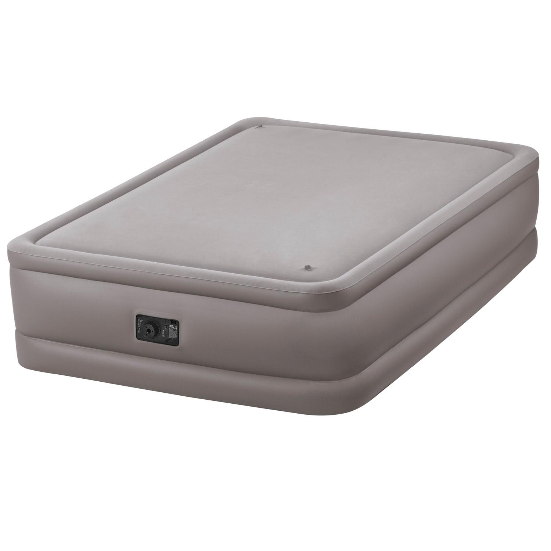 Intex Luftbett 203x152x51 cm mit integrierter Luftpumpe Gästebett