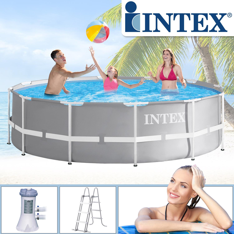 Intex Swimming Pool Ø 366 x 99 cm Frame Pool Set Prism Rondo