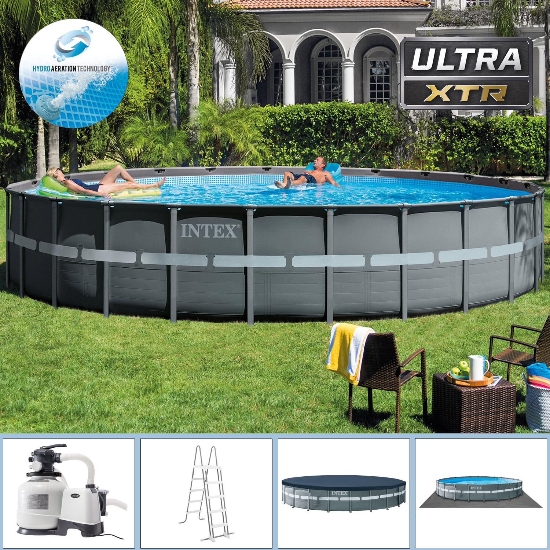 Intex Swimming Pool Ø 732 x 132 cm Frame Pool Set Ultra Rondo XTR