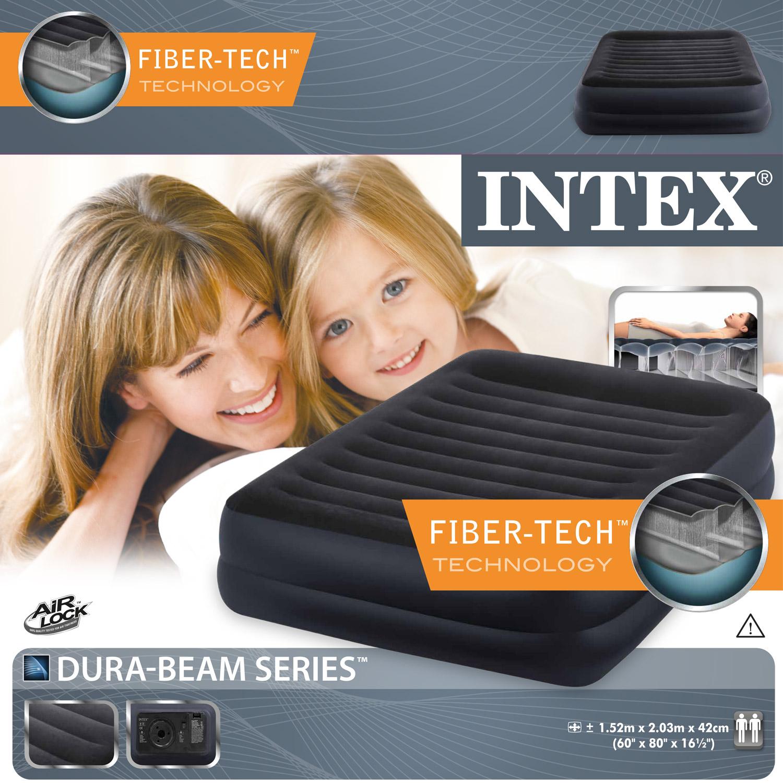 Intex 64424 Pillow Rest Raised Queen 230 V Doppel-Luftbett