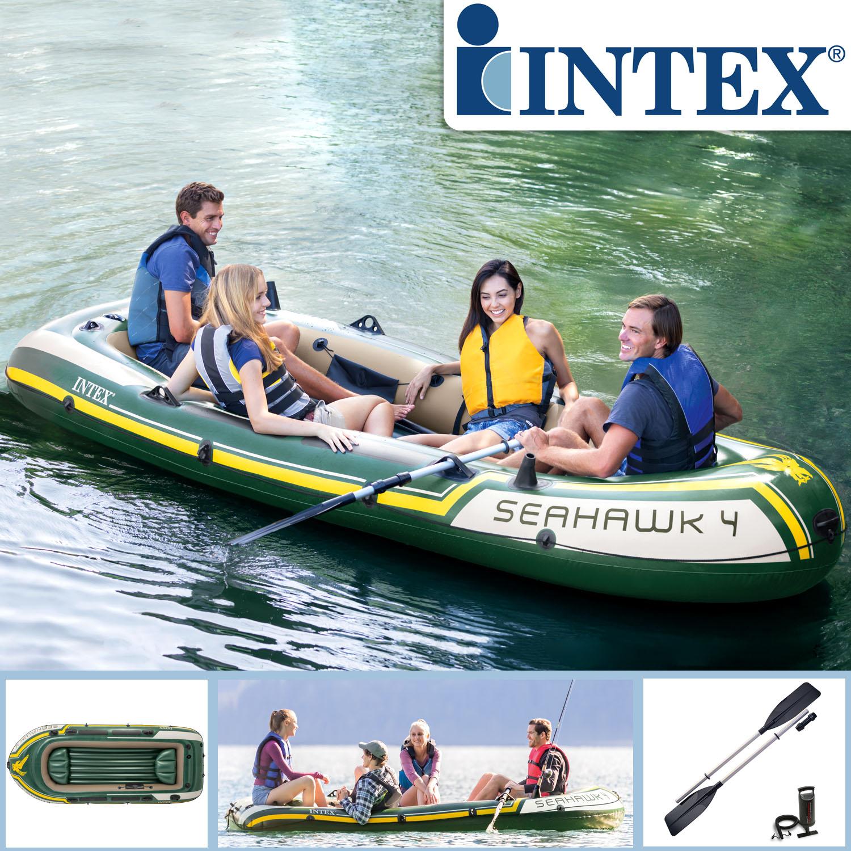 INTEX 68351 Schlauchboot 351x145x48cm Seahawk 4
