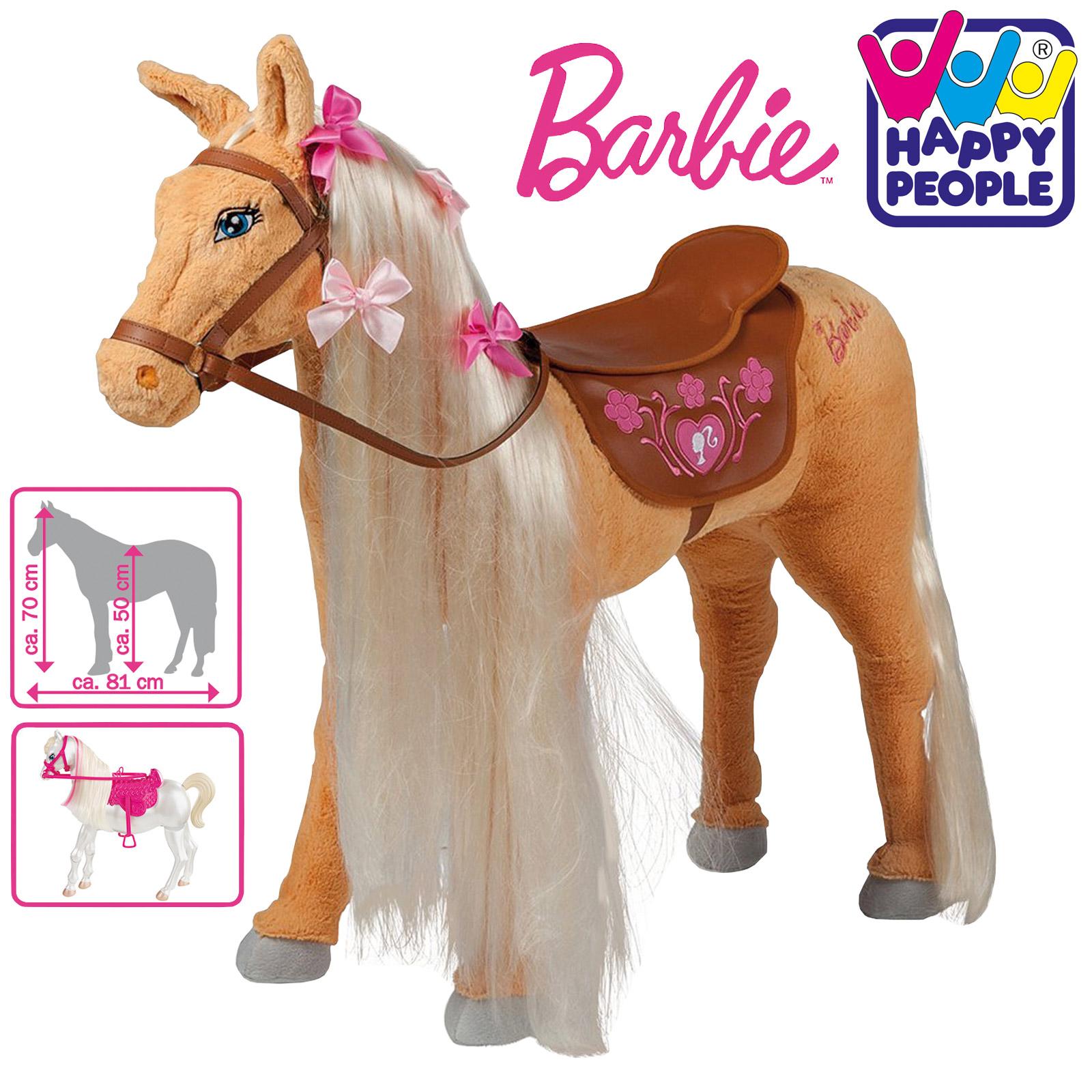 Happy People 58036 Plüschpferd Barbie Pferd Tawny mit Sound stehend