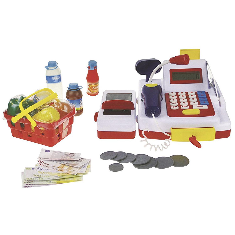 Happy People 45055 Haushaltsspielzeug Kasse mit Rechner-Funktion