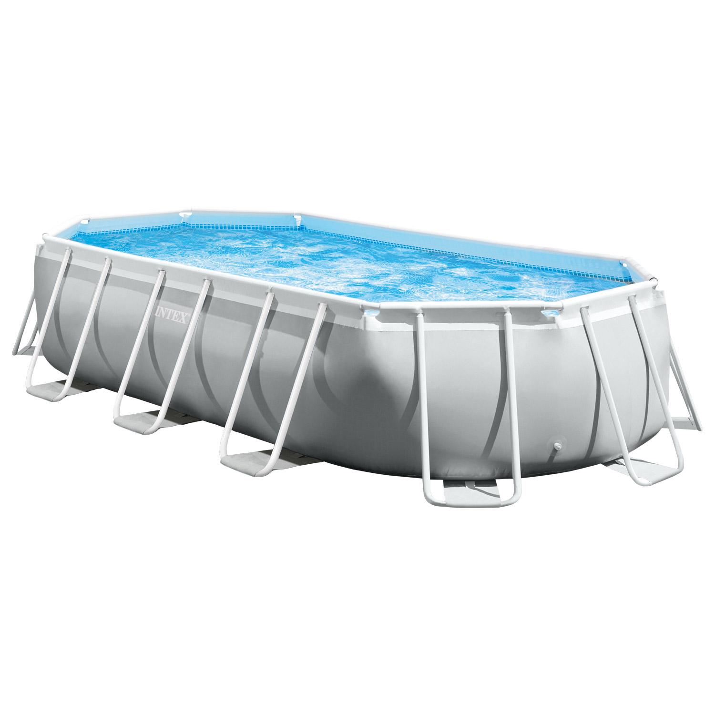 Intex Swimmingpool 503 x 274 x 122 cm Frame Pool Set Prism Oval