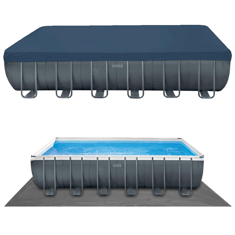 Intex Swimming Pool 732 x 366 x 132 cm Frame Pool Set XTR + Chlorgenerator