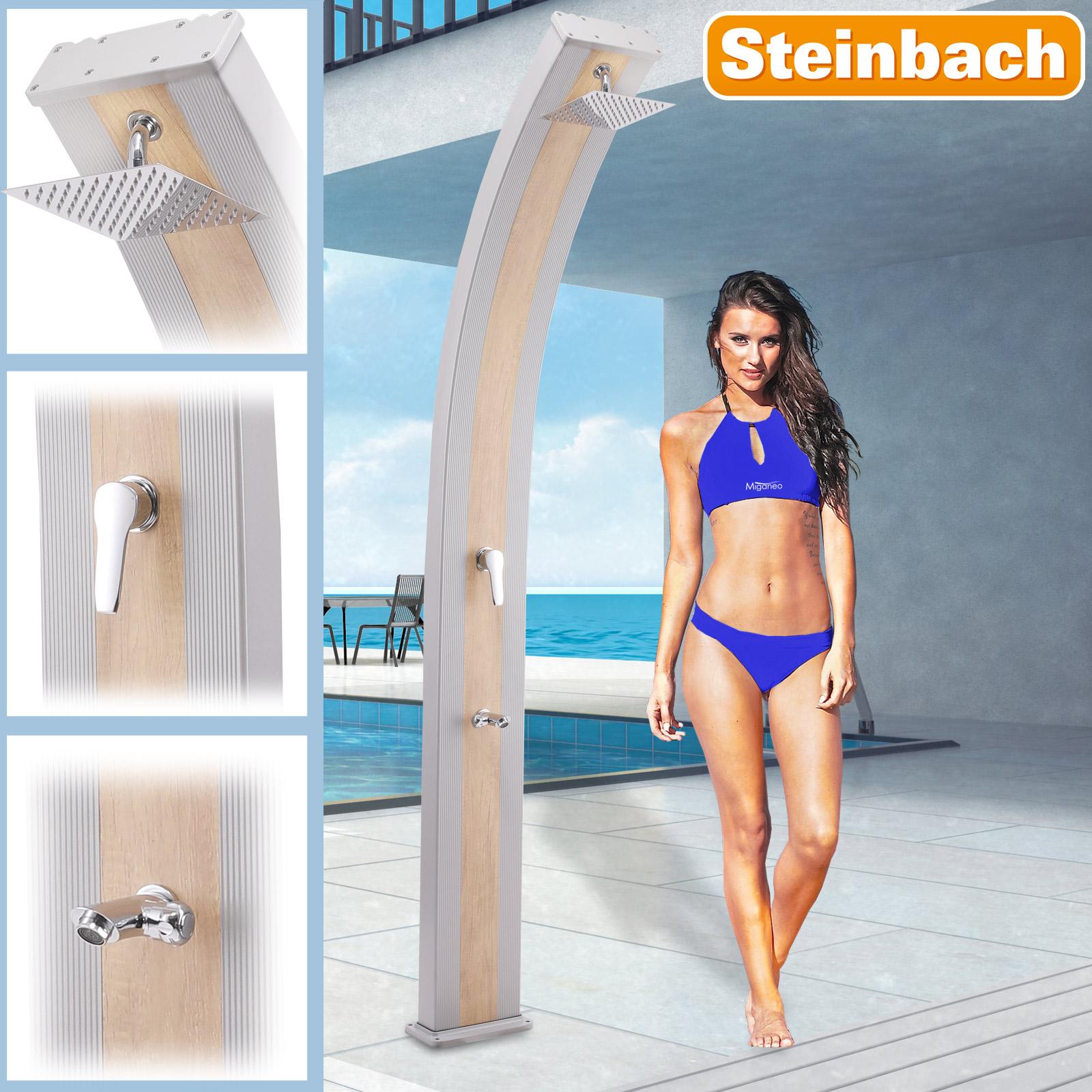 Steinbach Solardusche Slim Line Deluxe silber/Holzoptik 49049