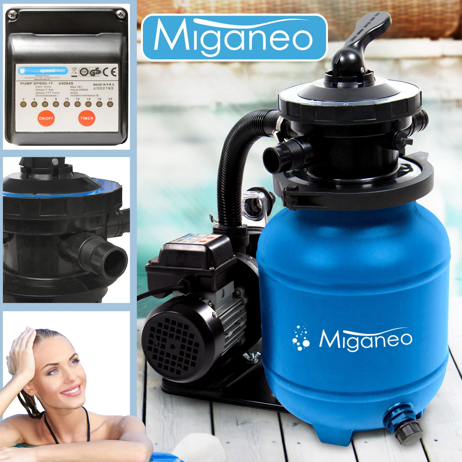 Miganeo® Sandfilteranlage Dynamic 7000 Pumpleistung  6.3m³ blau
