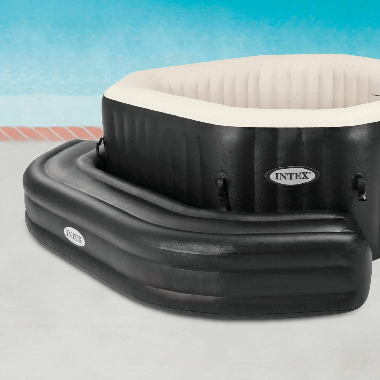 Aufblasbare Intex Sitzbank für Pure Spa Octagon, schwarz
