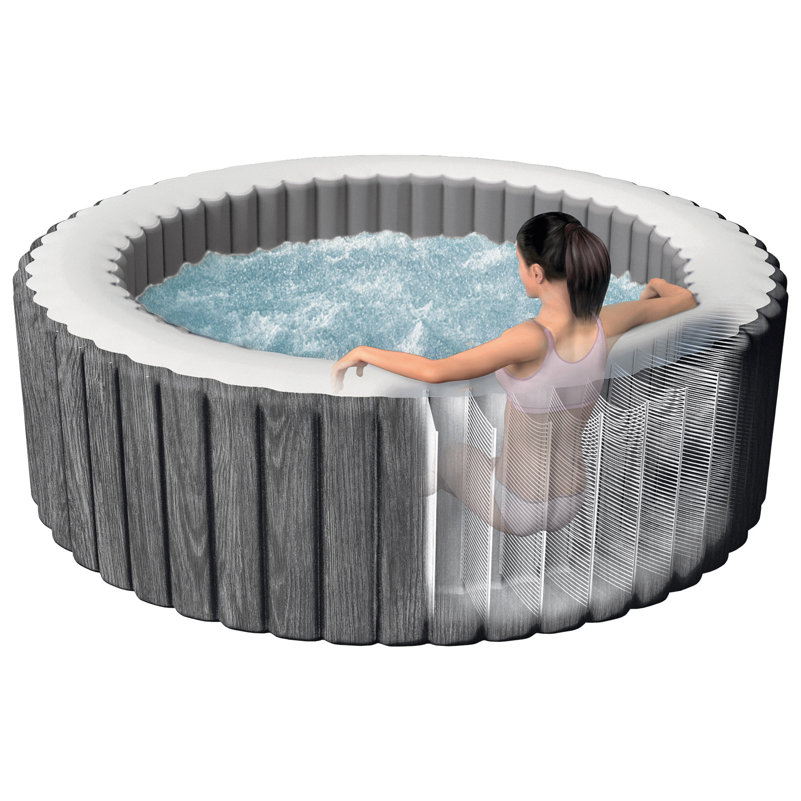 Intex Whirlpool Bubble mit integriertem Kalkschutzsystem SPA 28440