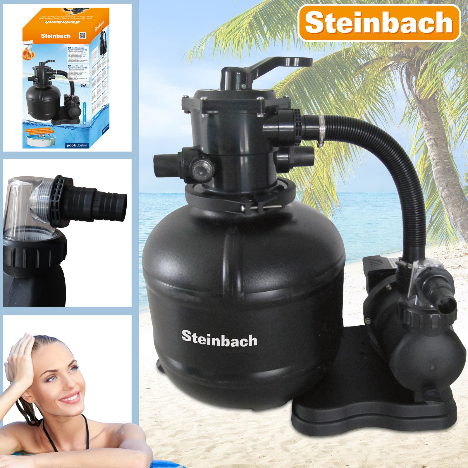 Steinbach SpeedClean Sandfilteranlage 8,5 m³ für Pool Classic 400