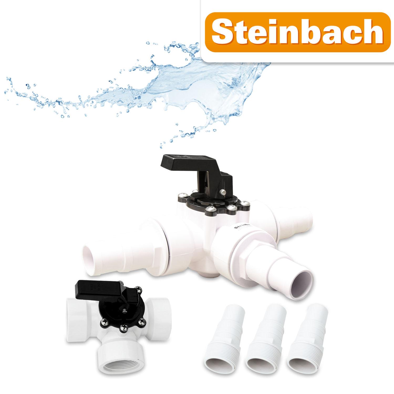 Steinbach 3-Wegeventil - Schlauchanschluss für Pool 60025