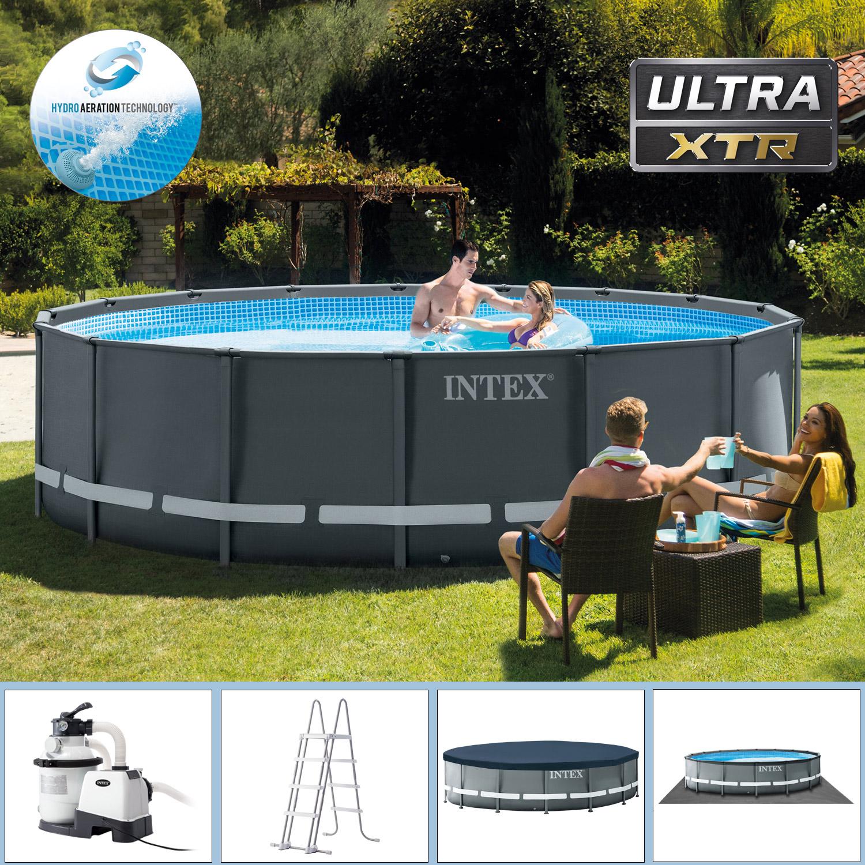 Intex Swimming Pool Ø 488 x 122 cm Frame Pool Set Ultra Rondo XTR