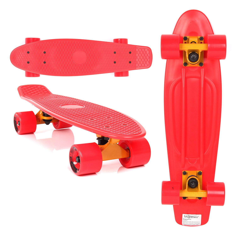 Miganeo®  Retro Skateboard rot 101079