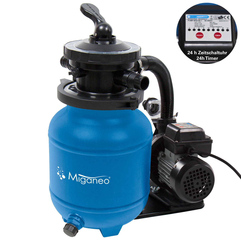 Miganeo® Sandfilteranlage Speed Clean Dynamic 7000 Pumpleistung 6,3m³ blau
