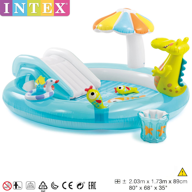 Intex 57129 Bad Spielzentrum Krokodil 203 x 173 x 89 cm