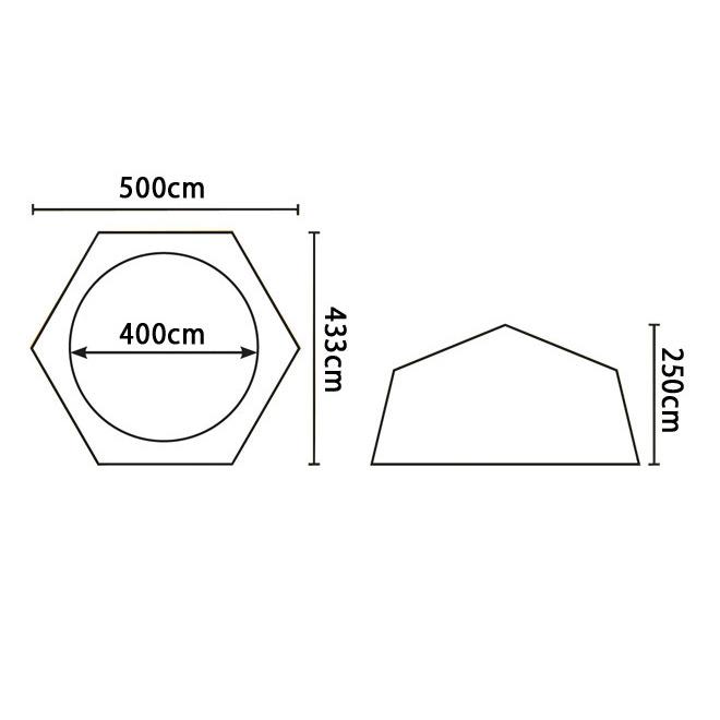 Pavillion 36420 Pooldach 500x433x250cm