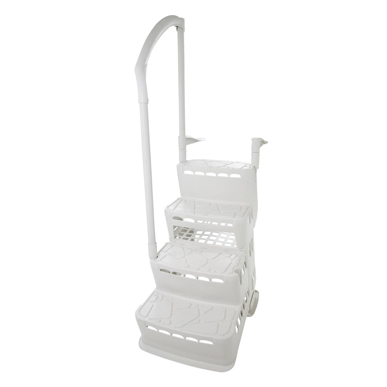 Einbautreppe PVC Komfort 2, 120-135cm für Pool