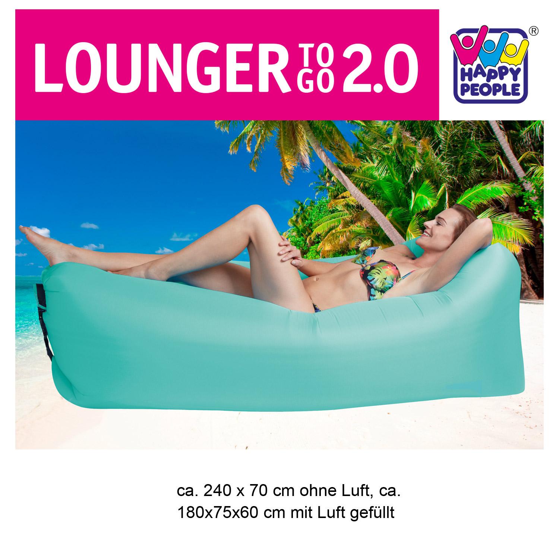Lounger To Go 2,0® Luftmatratze türkis
