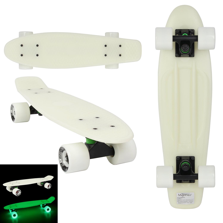 Miganeo®  Retro Skateboard phosphorizierndend leuchtet grün im Dunklen 101083