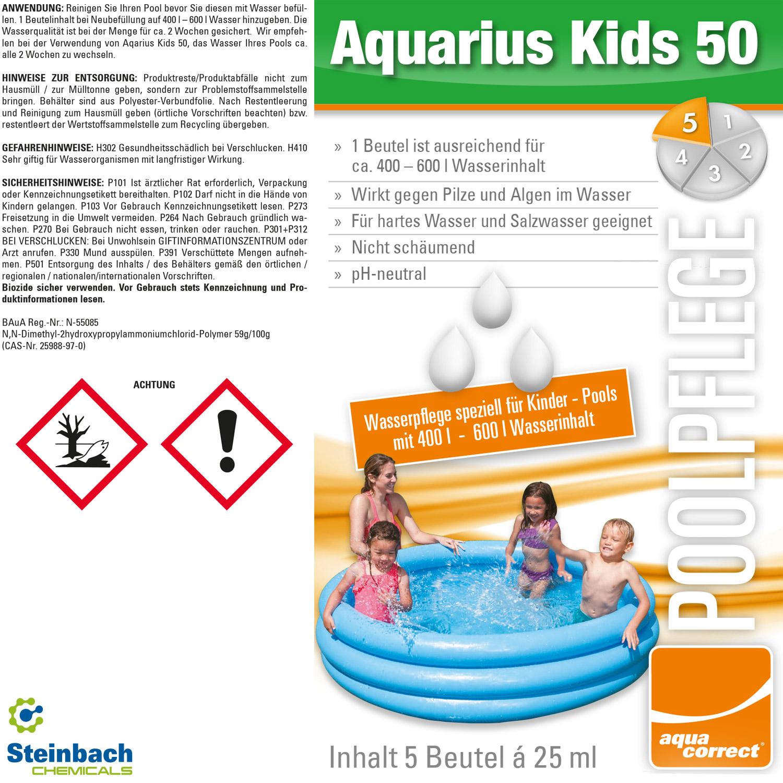 Steinbach Aquarius Kids 50 Wasserpflege für Kinder-Pools!