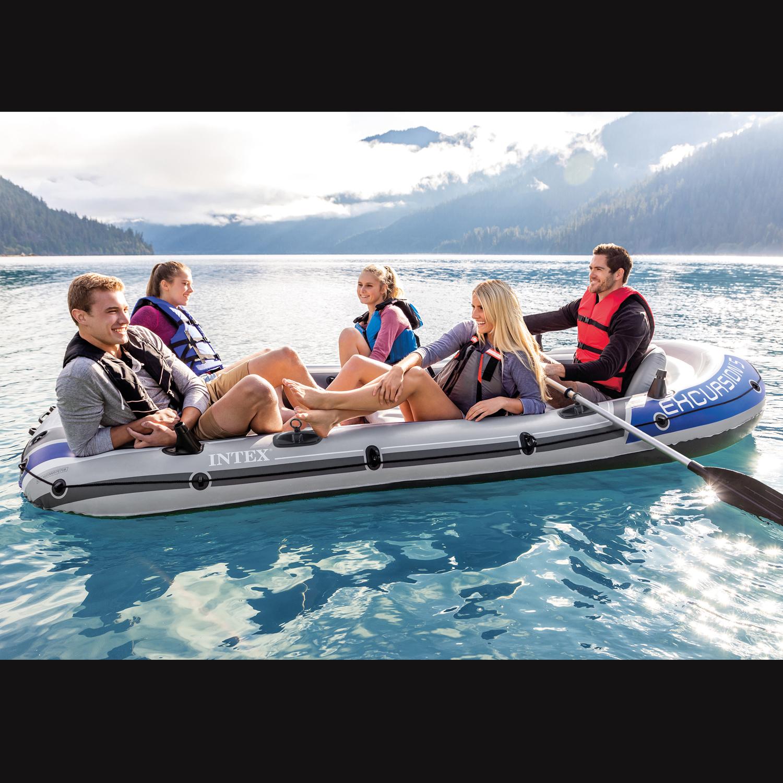 """Intex 68325 Schlauchboot Set """"Excursion 5""""  366 x 168 x 43 cm - bis 5 Personen"""