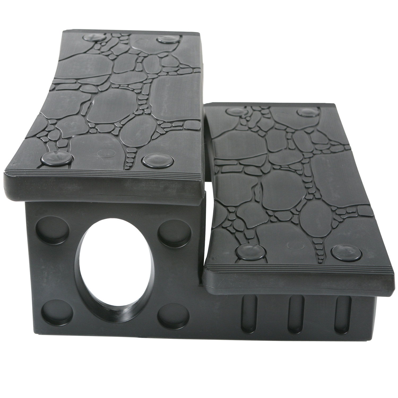 Kunststoff Doppelstufe für Whirlpools 69x63x34cm