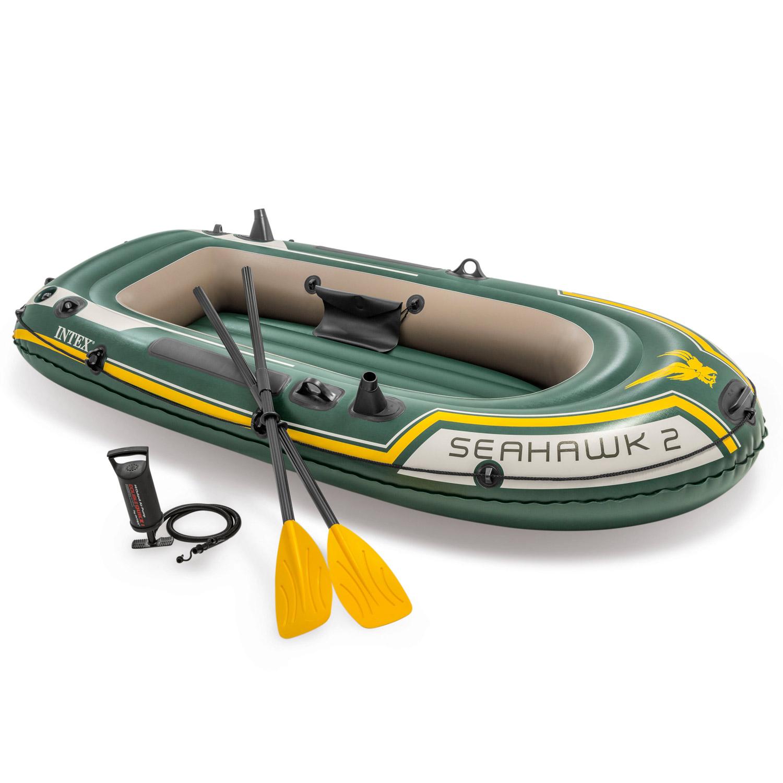 INTEX 68347 Boot Schlauchboot Angelboot Seahawk 2 Ruderboot