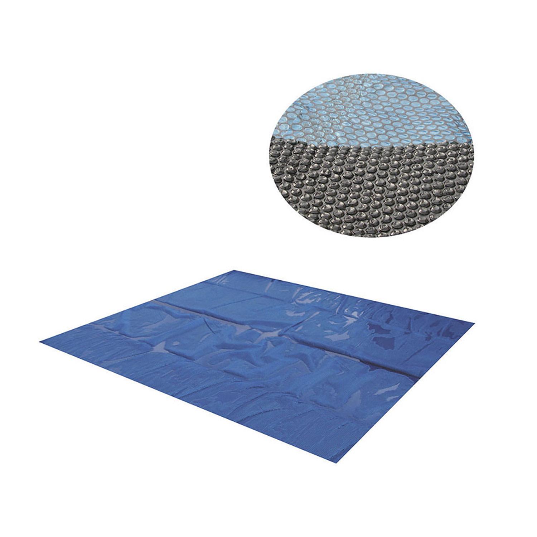 Miganeo® Pool Solarplane 800x400 schwarz/blau