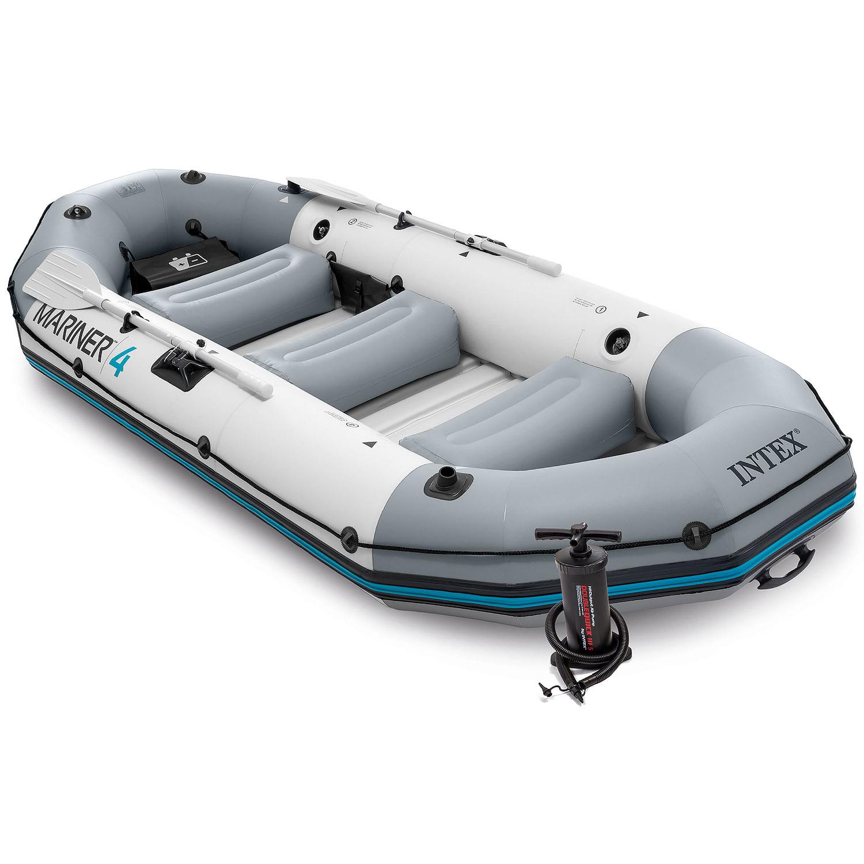 Intex 68376 Boot Schlauchboot Angelboot Aufr Motorboot Mariner 4