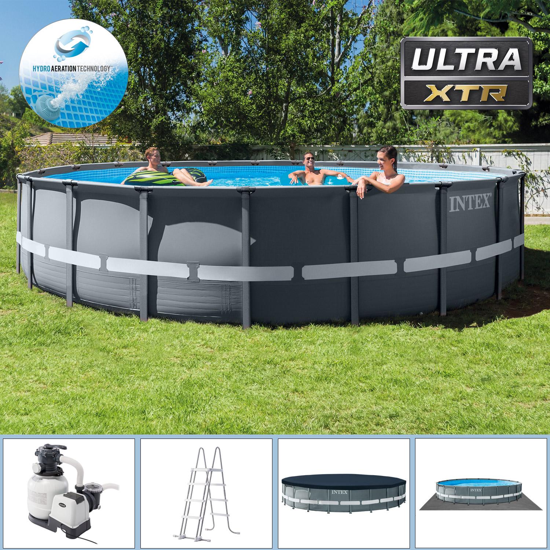 Intex Swimming Pool Ø 610 x 122 cm Frame Pool Set Ultra Rondo XTR