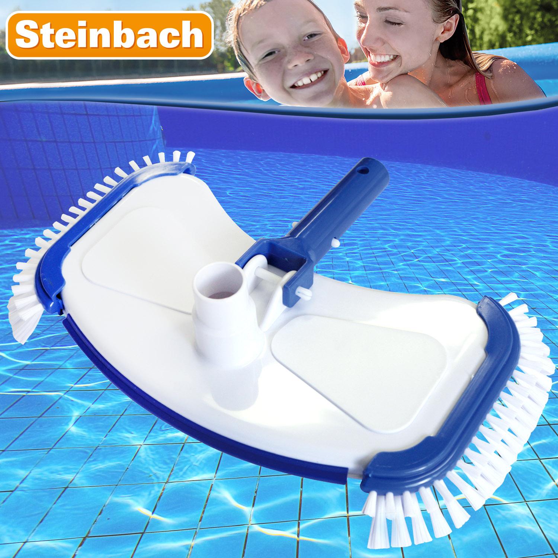 Steinbach Bodensauger DeLuxe Aufsatz für Schwimmbadschlauch 32 / 38 mm Bürste