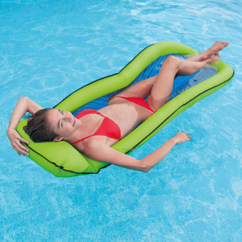 Intex Matratze 178x94cm Luftmatratze Pool Lounge Badeinsel Liege grün