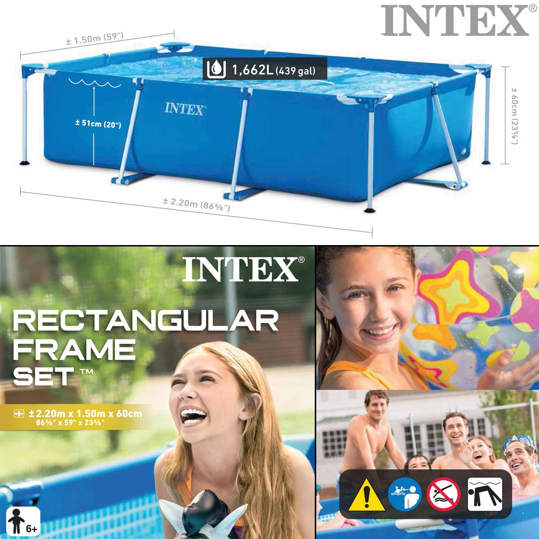Intex Frame Pool Set Family 220x150x60 cm