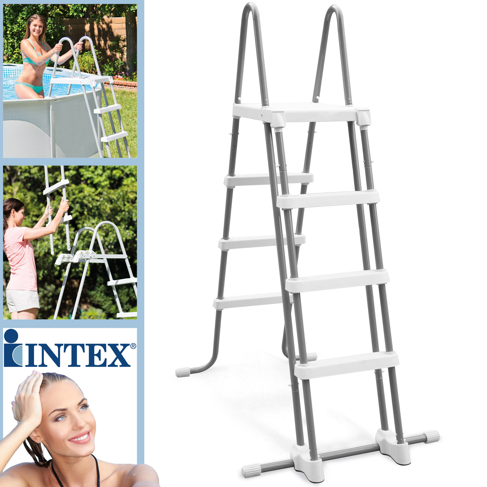 Intex Sicherheitsleiter für Pools mit 122 cm Höhe 28076