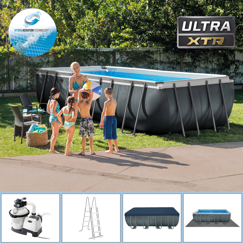 Intex Swimming Pool 549 x 274 x 132 cm Frame Pool Set Ultra Quadra XTR