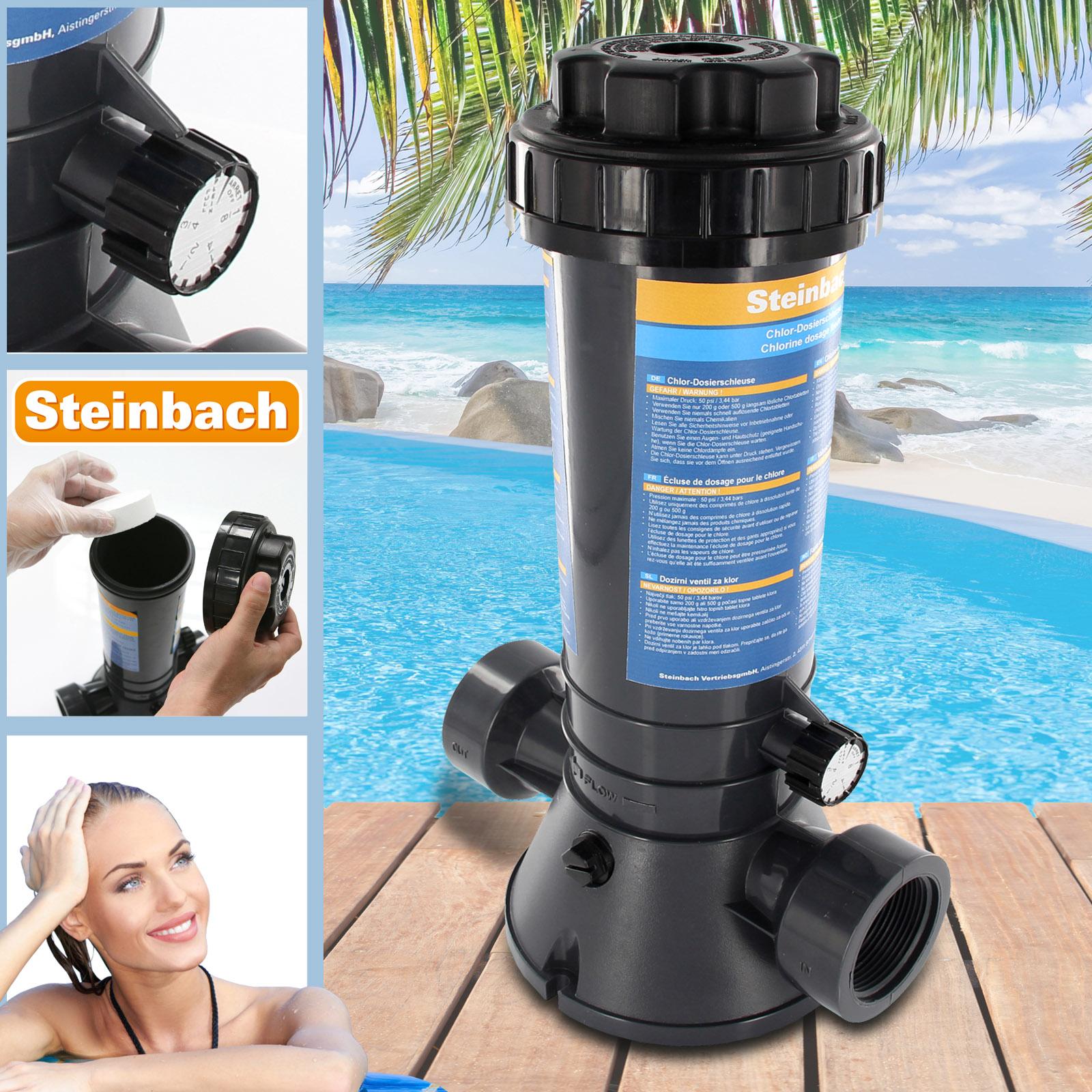Steinbach 79030 Chlor-Dosierschleuse für Pool chlortabs multitabs
