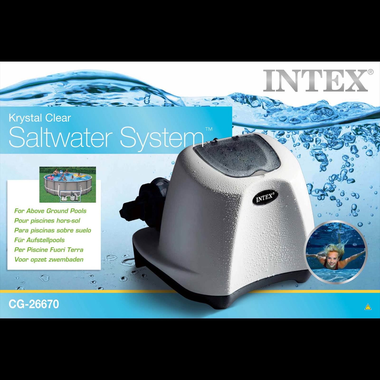 Intex Krystal Clear Salzwassersystem bis 56.800 Liter Chlorinator