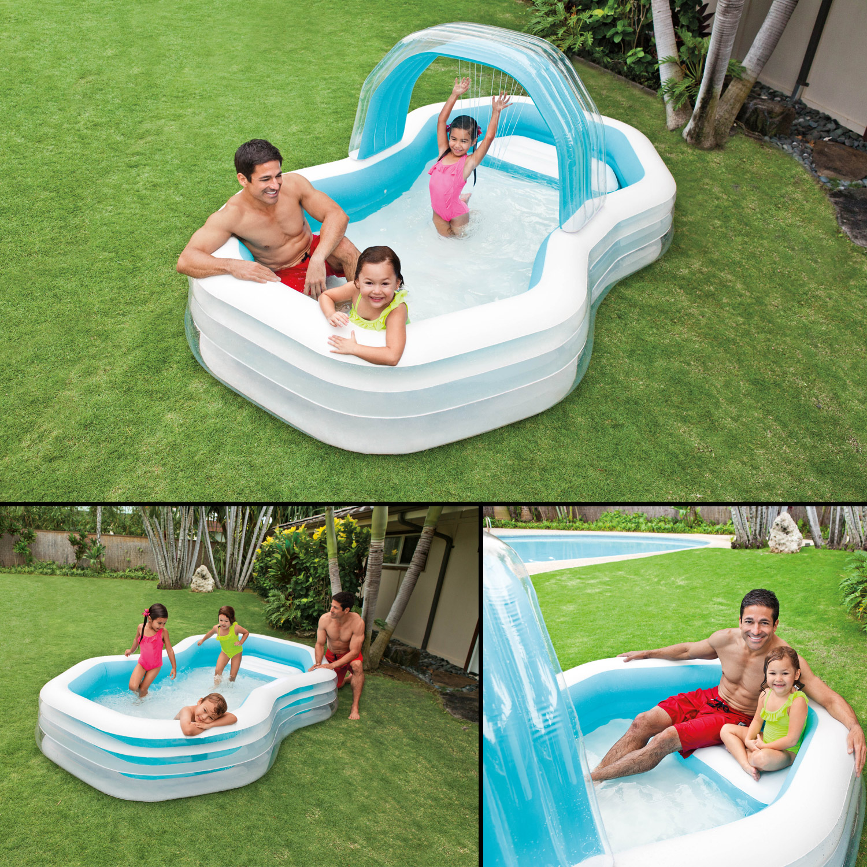 Intex 57198 Familienpool Center Pool mit Sprüher 310x188x130cm