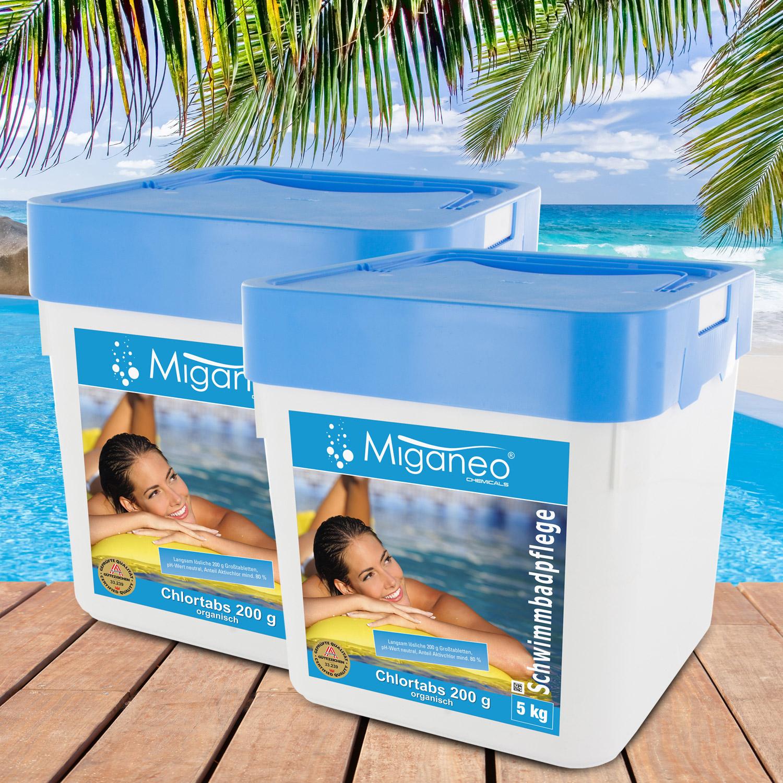 Miganeo® Chlortabs 200g organisch, 2 x  5 kg, Langzeitchlortabletten