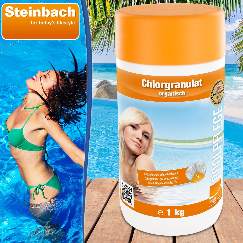 Steinbach Chlorgranulat, 1 kg für Pool, pH-neutral