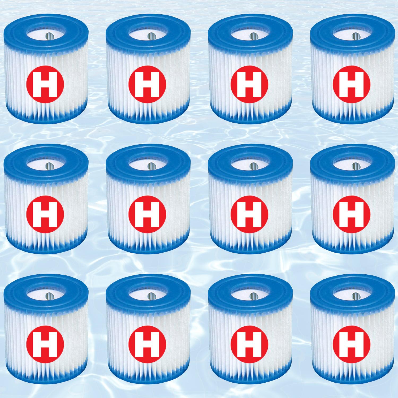 12x Intex Filterkartusche H für Poolpumpen 28601 und 28602