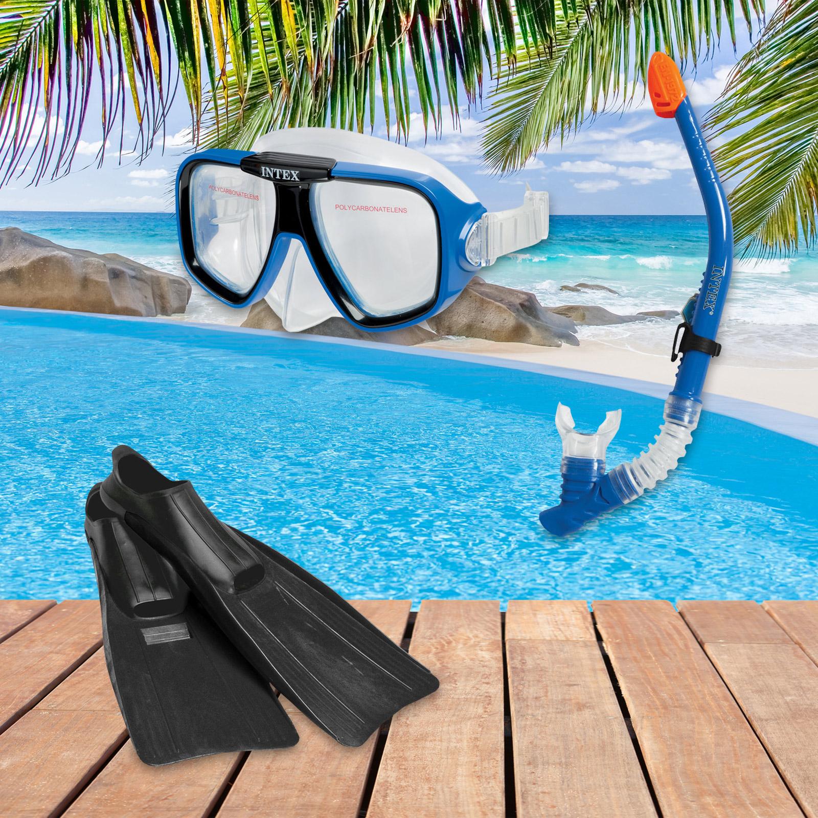 Intex 55957 Schnorchelset Reef Rider Sport Größe von 38 - 40