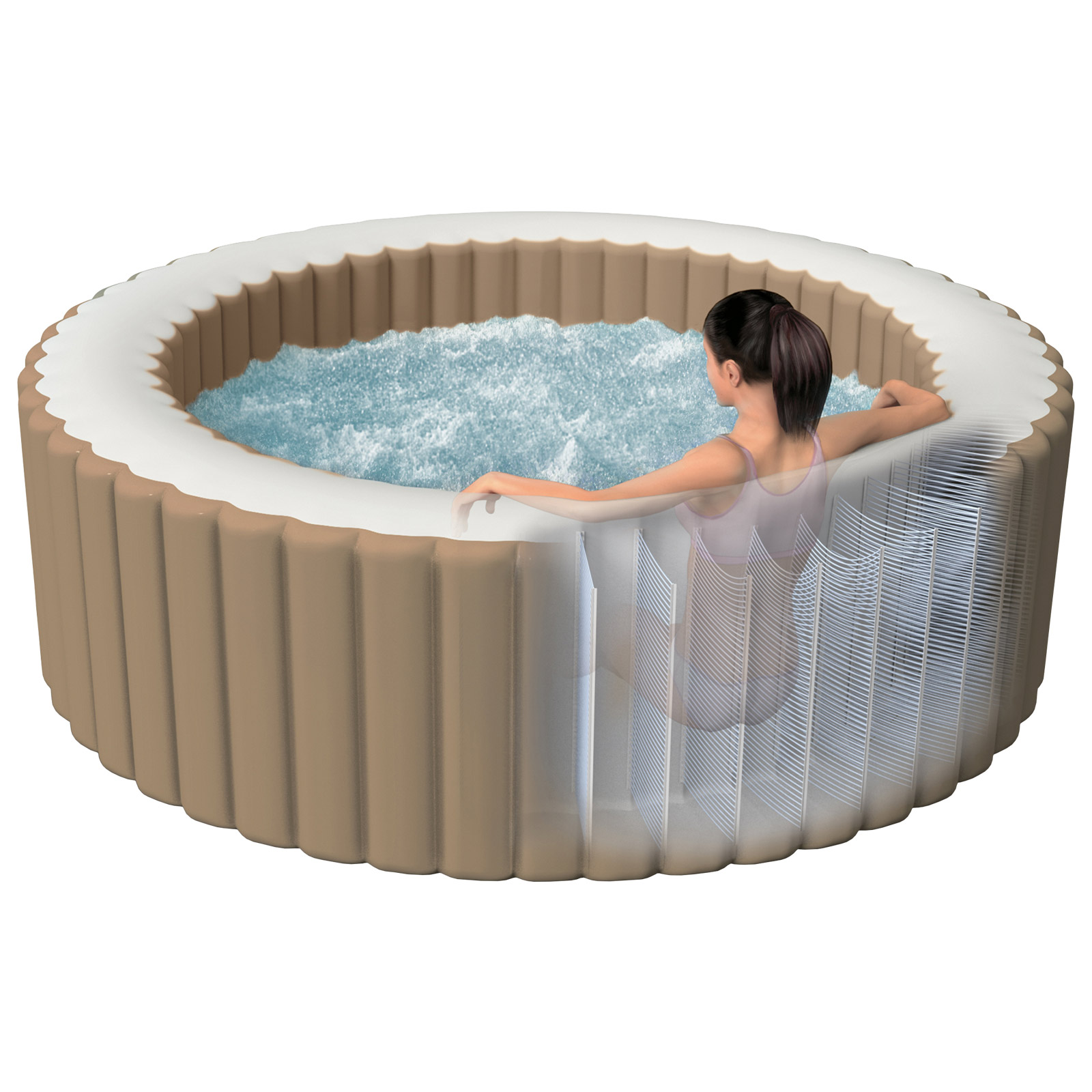 Intex Whirlpool Bubble mit integriertem Kalkschutzsystem SPA