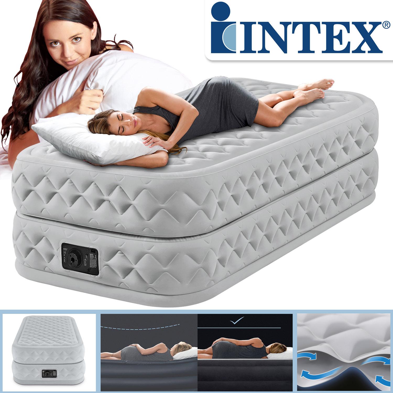 Intex Luftbett 191x99x51 cm mit integrierter Luftpumpe Gästebett
