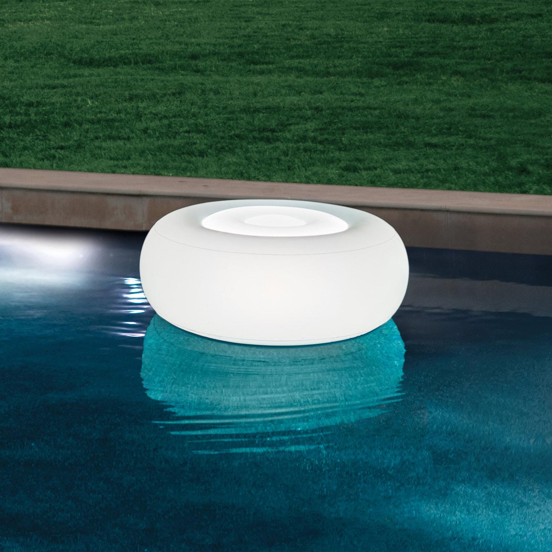 Intex 68697 LED Schwimmleuchte Ottoman Pool Garten  86 x 33 cm