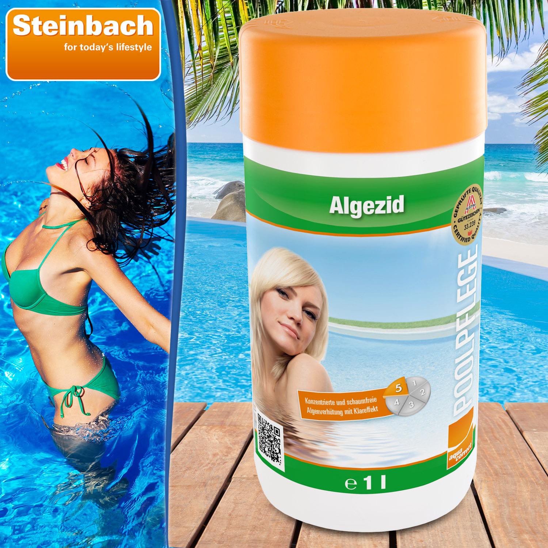 Steinbach 1Liter Algezid zur Algenvernichtung - schaumfrei für Pool